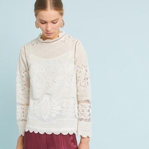 Anthropologie Alice Lace Top